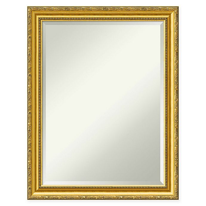 Alternate image 1 for Colonial Embossed 22-Inch x 28-Inch Wall Mirror in Gold