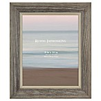 Rustic 8-Inch x 10-Inch 2-Tone Wood Picture Frame in Grey