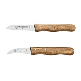 Carl Schmidt Sohn™ 2-Piece German Paring and Peeling Knife Set in Brown