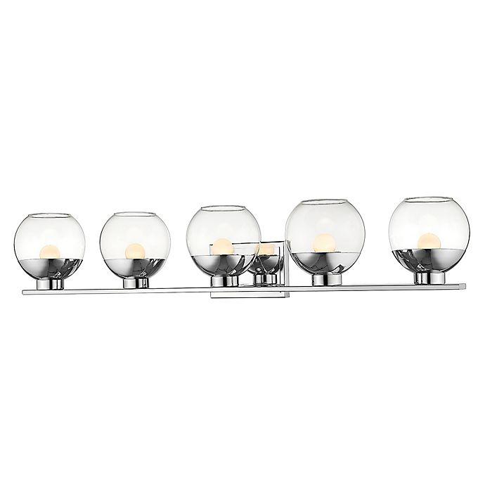 Alternate image 1 for Filament Design Osono 5-Light Vanity Light in Chrome