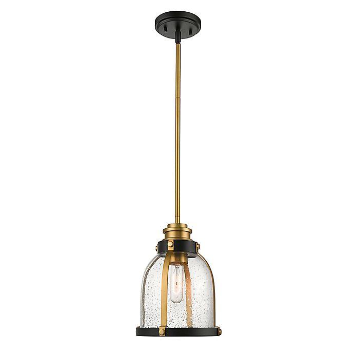 Alternate image 1 for Filament Design Downrod Mount 1-Light Mini Pendant Light in Bronze/Brass