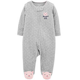 9efcfd8803 carter s® Zip-Front Cat Sleep   Play Footie ...