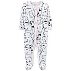 carter's® Size 6M Cats Footed Thermal Coverall in Ivory