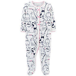 carter's® Cats Footed Thermal Coverall in Ivory