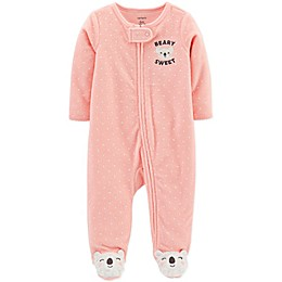 "carter's® ""Beary Sweet"" Polka Dot Footie"