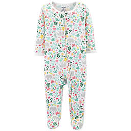 carter s® Zip-Up Floral Thermal Sleep   Play Footie ... 4535bafdd