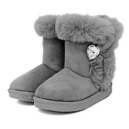 Stepping Stones Faux Fur Boot in Grey