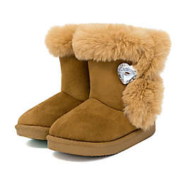 Stepping Stones Faux Fur Boot in Tan