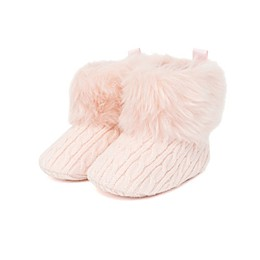 Stepping Stones Faux Fur Cuff Boot in Pink