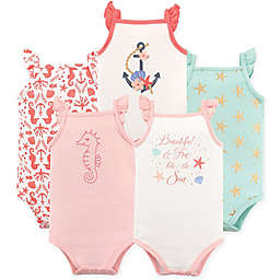 Hudson Baby® 5-Pack Sleeveless Sea Bodysuits in Pink