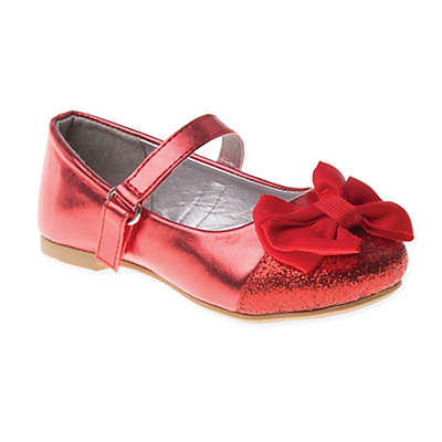 Laura Ashley® Bow Flat Shoe in Red