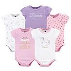 Hudson Baby® Size 6-9M 5-Pack Unicorn Bodysuits