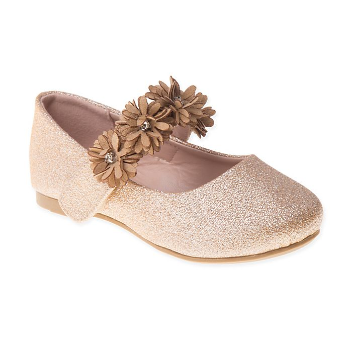 Alternate image 1 for Laura Ashley® Flower Band Shoe in Rose Gold