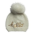So 'dorable One-Size Hello Pom Pom Hat in Ivory