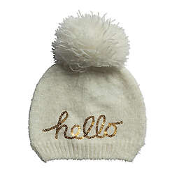 c096d25c5e6 So  dorable One-Size Hello Pom Pom Hat in Ivory