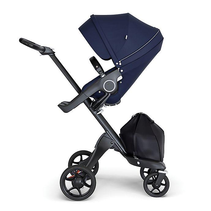 Alternate image 1 for Stokke® Xplory® Stroller in Deep Blue with Black Frame and Black Handle