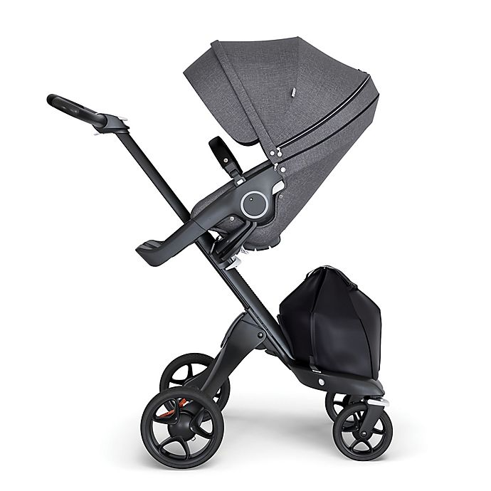 Alternate image 1 for Stokke® Xplory® Stroller with Black Frame and Black Handle