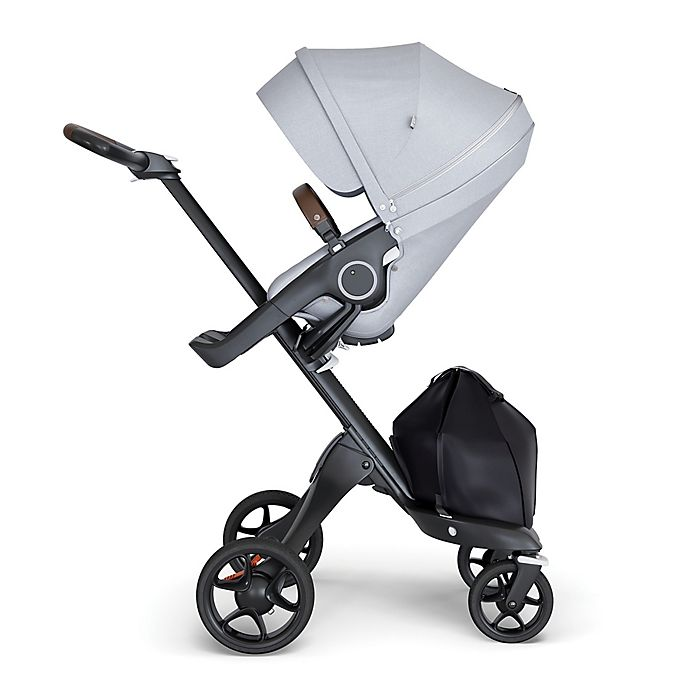Alternate image 1 for Stokke® Xplory® Stroller with Black Frame and Brown Handle