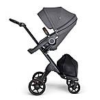 Stokke® Xplory® Stroller in Black Melange with Black Frame and Brown Handle