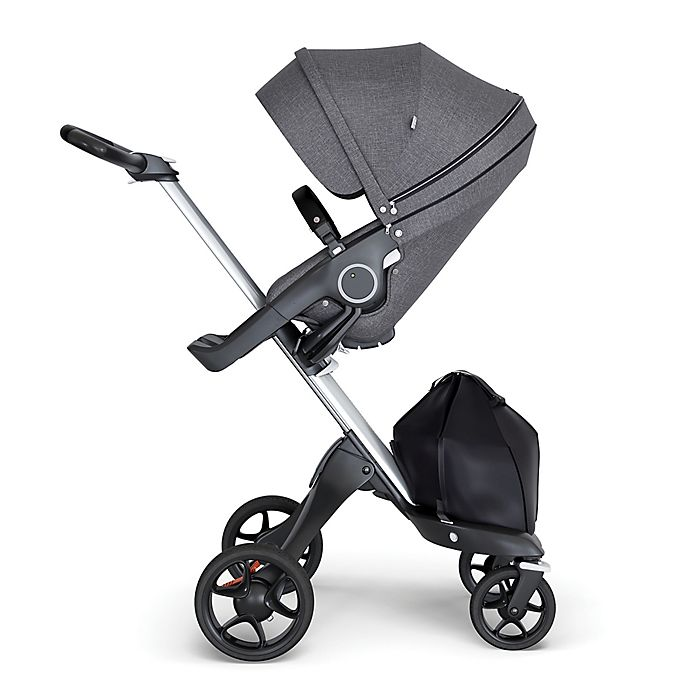 Alternate image 1 for Stokke® Xplory® Stroller with Silver Frame and Black Handle