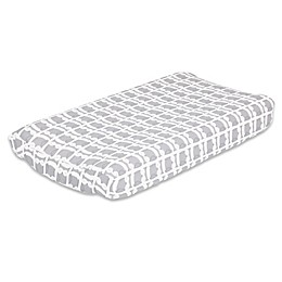 The PeanutShell™ Owl Changing Pad Cover in Grey