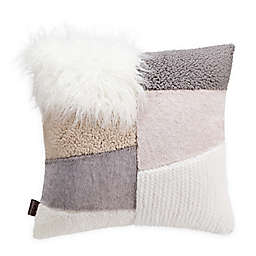 UGG® Freya Patchwork Square Throw Pillow in Natural