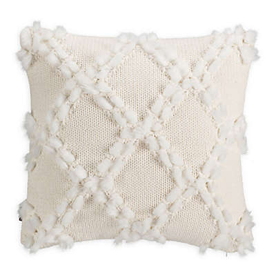 UGG® Silvana Square Throw Pillow in Snow