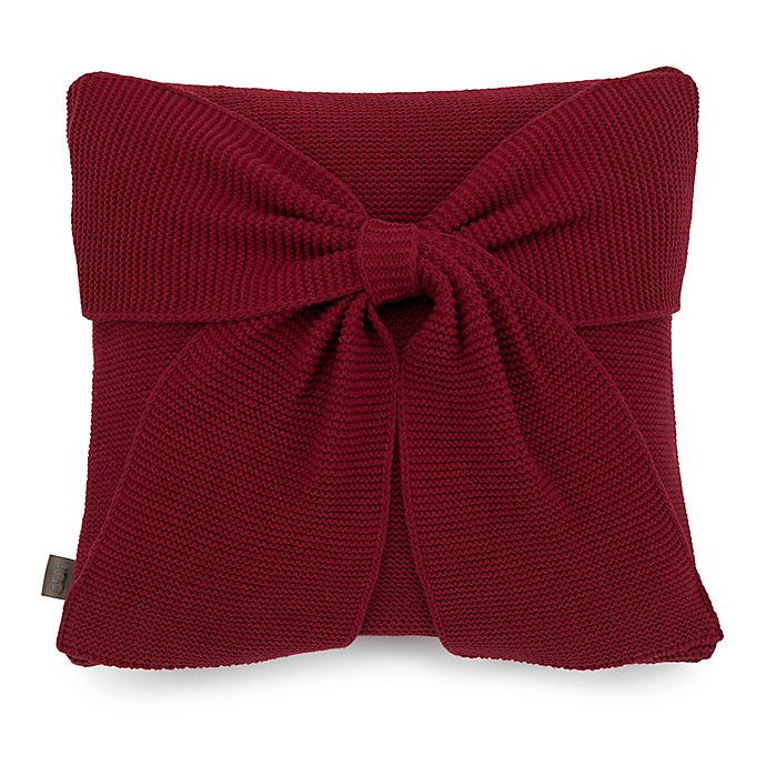 Alternate image 1 for UGG® Ansley Knit Decorative Throw Pillow in Redwood