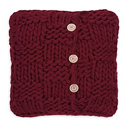 UGG® Layne Chunky Knit Button Throw Pillow in Redwood