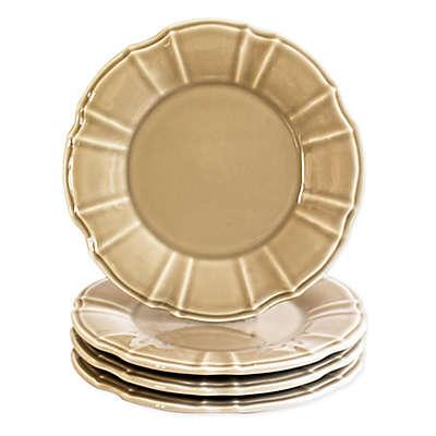Euro Ceramica Chloe Salad Plates in Taupe (Set of 4)