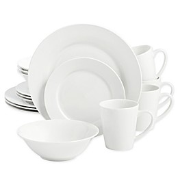 SALT™ Round Rim 16-Piece Dinnerware Set in White