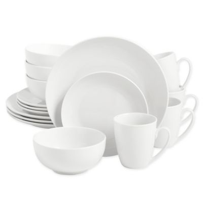 Salt™ Round Coupe 16 Piece Dinnerware Set In White by Bed Bath And Beyond
