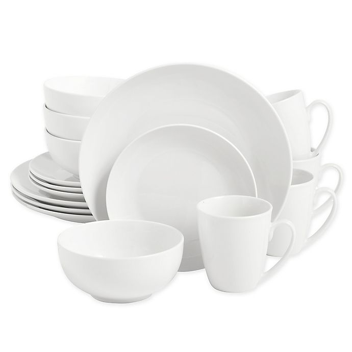 Alternate image 1 for SALT™ Round Coupe 16-Piece Dinnerware Set in White