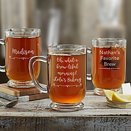 Write Your Own Glass Coffee Mug