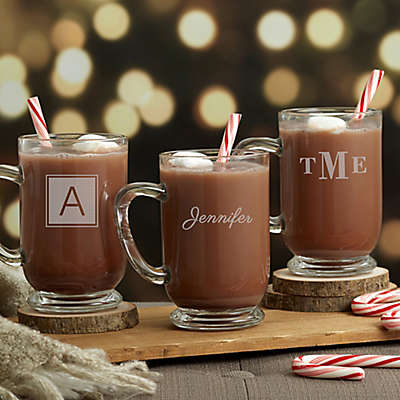 Classic Holiday Celebrations Glass Coffee Mug
