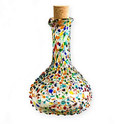 Confetti Hand-Blown Multicolor Olive Oil Bottle