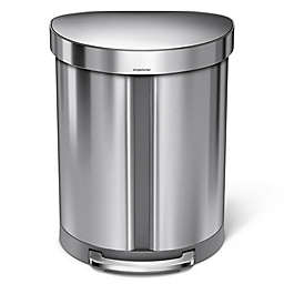 simplehuman® Dual Compartment Semi-Round 55-Liter Step Trash Can