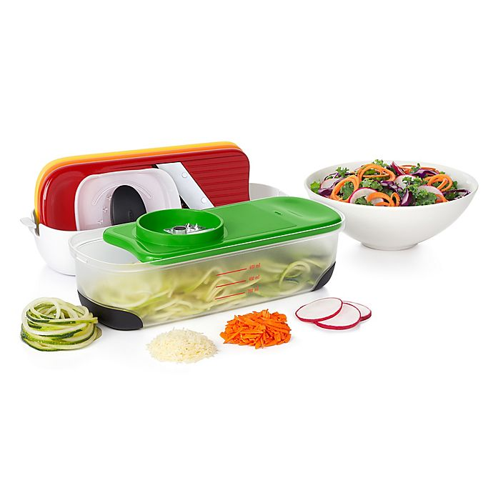 Alternate image 1 for OXO Good Grips® 7-Piece Spiralize Grate and Slice Set