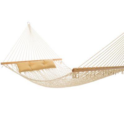 Tropic Island 13 Foot Natural Cotton Rope Hammock Bed