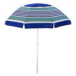 Nautica Coastal Stripe 7-Foot Beach Umbrella