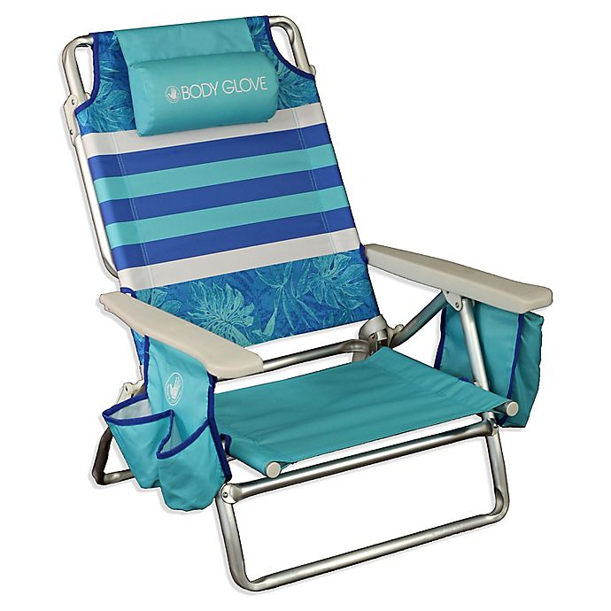 e09078864f Body Glove® 5-Position Beach Chair in Blue | Bed Bath & Beyond