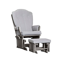 Baby Cache Vienna Glider and Ottoman in Light Grey
