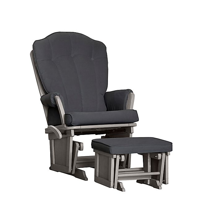 Alternate image 1 for Baby Cache Vienna Glider and Ottoman in Dark Grey