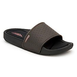 Copper Fit® Women's Size 7 Memory Foam Slide Sandal in White