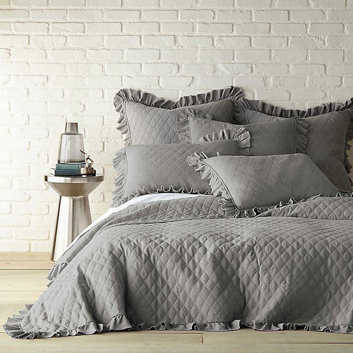 Alternate image 1 for Levtex Home Sandwash Reversible Twin Quilt in Grey
