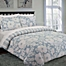 Part of the Nouvelle Home Chambray Floral Reversible Comforter Set