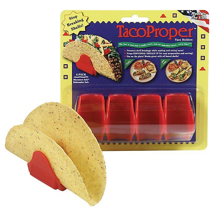 Alternate image 1 for Taco Proper® Taco Holders (Set of 4)