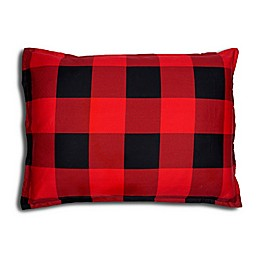 Alamode Home Chester Pillow Sham in Red/Black