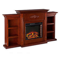 Southern Enterprises Fireplace with Bookcases