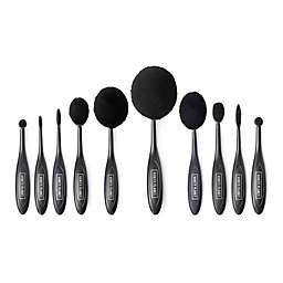 Vanity Planet Blend Party Oval Makeup Brushes in Black (Set of 10)